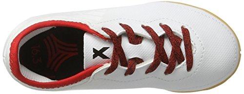 adidas X Tango 16.3 in J, Scarpe da Calcio Unisex – Bambini Bianco (Ftw White/ftw White/red)