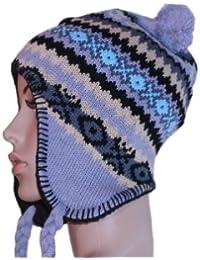 Winter Bommelmütze Norwegermütze M2 Inka Nepalmütze Snowboardmütze in verschiedene Farben