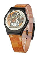 Star Wars Unisex Rebels Digital Display Watch with Multi-Colour Dial and Orange Plastic Strap SWRB1