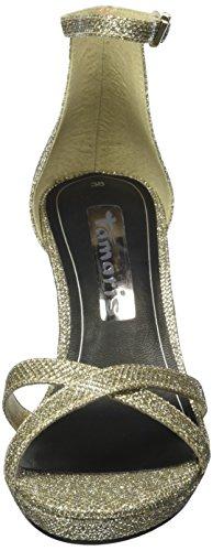 Tamaris 28303, Sandali con Zeppa Donna Argento (Gold Glam 944)