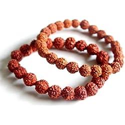 Shraddha Shree Gems 5- Mukhi Rudraksha Bracelet Pair, Real Rudraksha Bracelet
