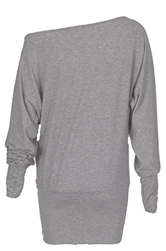 WICKEDFASHIONS123 -  T-shirt - Donna Grigio