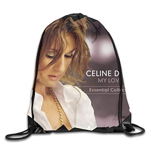 Borsa da palestra per borse sportive, Drawstring Bag Celine Dion My Love Gym Sport Bags Cinch Sacks Travel Hiking Backpack For Men Women