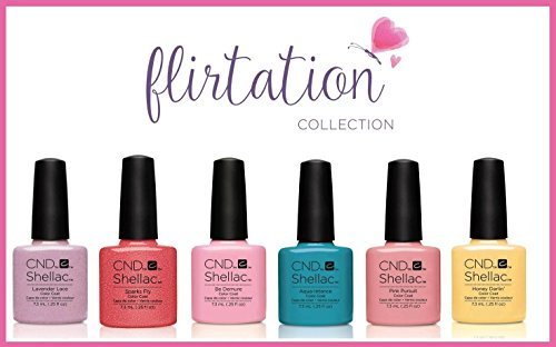 Chip Nail Color Polnisch (Nagelgel, CND Shellac Nail Gel, Flirtation Kit, 7,3 ml, 6 Stück)