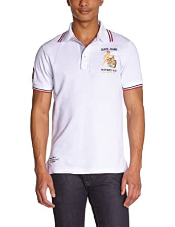 Gangster Unit - Polo - Homme - Blanc (White) - S