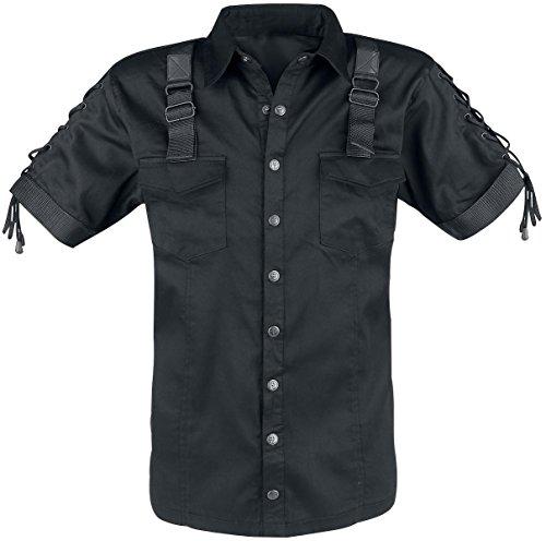 Gothicana by EMP Strap Shirt Camicia nero 3XL