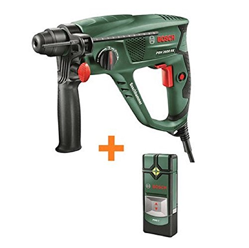 Bosch Bohrhammer PBH 2600 RE mit SDS-Plus - 570 W und 1,8 J - Softgrip + Bosch Ortungsgerät PMD 7 -