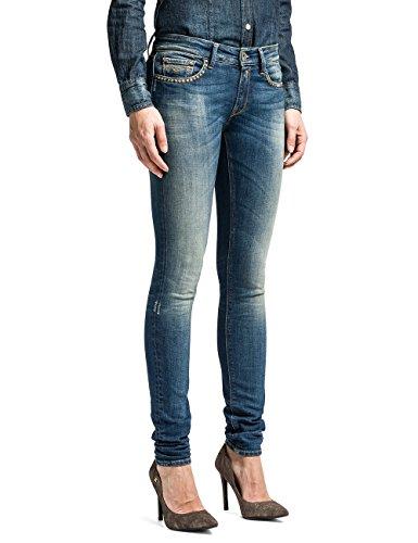 Replay Damen Skinny Hose Luz WX689B Blau (Blue Denim 10)