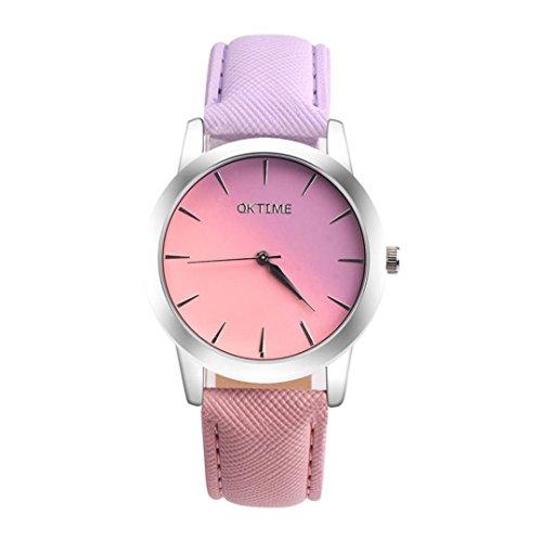 Wristband Relojes, Retro Arco Iris De DiseñO De Banda