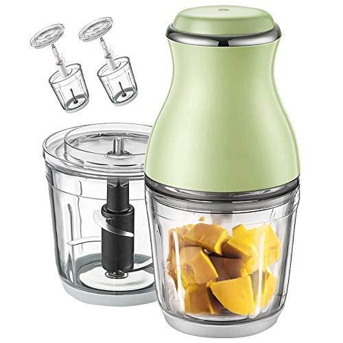 GSAGJjbj Haushalt Baby Nahrungsergänzungsmittel-Maschine, Haushalt Small Double Cup Saft Grinder, Geeignet for Saft, Hackfleisch, Ei Beat, Rühren, Milkshake