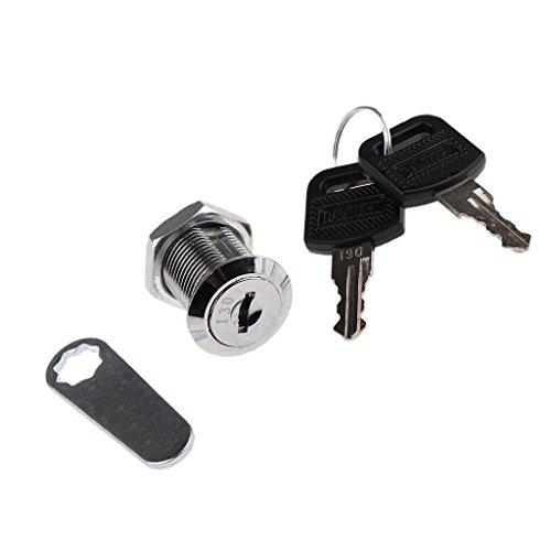 30mm Vorreiberverschluß Schließfach Brief Mailbox Schubladenschrank Türschrank + Schlüssel (Möbel Cam-lock-schraube)