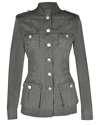 Frauen Damen militärischen Stil Sommerjacke (Stil Militärischen Frauen Jacke)