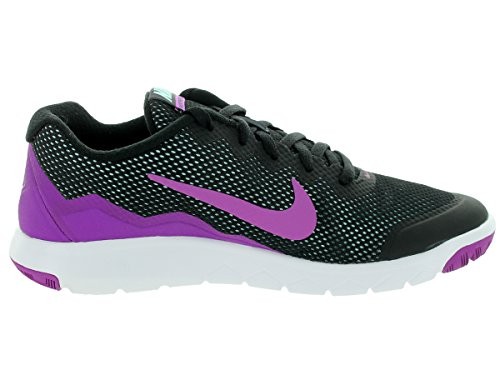 Nike Wmns Flex Experience Rn 4 Scarpe da ginnastica, Donna Black/Vivid Purple/Copa/White