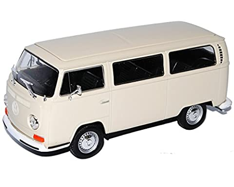 VW Volkswagen T2 Creme Weiss Bus Transporter 1967-1979 1/24 Welly Modell Auto