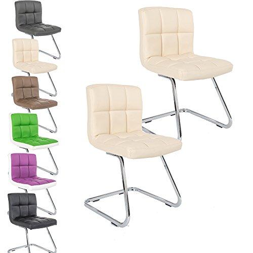 2 x Lounge Stuhl Freischwinger Kunigunde – Konferenzstuhl – Küchenstuhl – viele Farben – Retro Look – Barstuhl – Esszimmerstuhl – Polsterstuhl