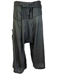 Rayon-Fischerhose grau / Fischerhosen bis 165 cm Größe