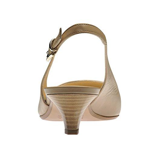 LIA escarpins sling cuir lisse nu