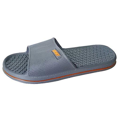 YUHUAWYH Unisex Badeschuhe Sandalen Damen Herren Dusch Schuhe Grau
