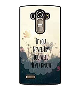 printtech Cool Quotes Life Back Case Cover for LG G4 ,LG G4 H815