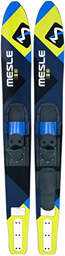 MESLE Combo-Ski XPlore 157 cm with B2 Binding, Water-Ski for Youths and Adults, with Slalom Toe, Blue-Lime