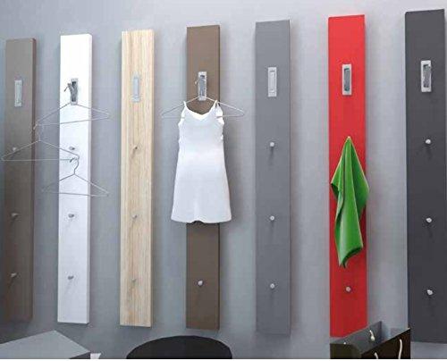 Appendiabiti Con Pomelli.Appendiabiti A Muro Con 3 Pomelli E 1 Gancio In Legno Colore Bianco