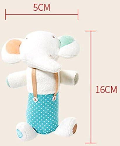 WWUUOOPRT Jouets de développeHommes t précoce pour enf Hochet de poupée de Dessin animé à la Main Mignon (éléphant Blanc) | Modèles à La Mode