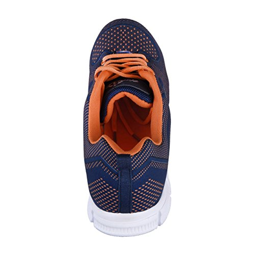 Uncle Sam Herren Seamless Leichtlaufschuhe in Blau/Orange Navy/Orange