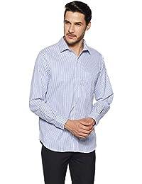 John Players Men's Checkered Slim Fit Formal Shirt