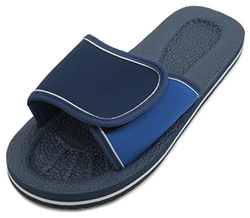 Sandrocks da piscina Slide Sandalo infradito con chiusura in velcro Blue
