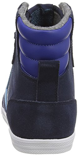 hummel SSTADIL WAXED CANVAS Unisex-Erwachsene Hohe Sneakers Blau (Dress Blue 7459)