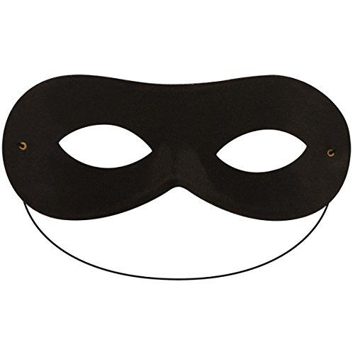 schwarz Zorro Highwayman Bandit Augen Maske Damen Herren Unisex Domino Maskerade Kostüm Zubehör
