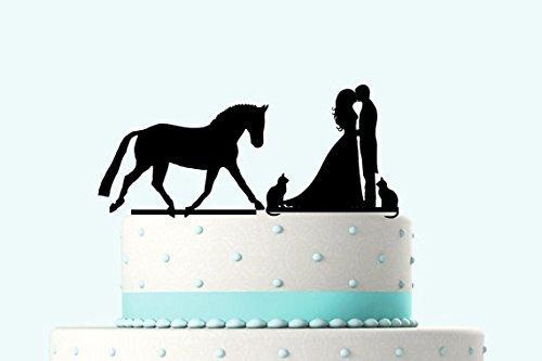 """Moderno diseño de tartas Tamaño: La altura y anchura será aproximadamente de 5""""a 6"""" (W) y 3,5""""a 5"""" (H), podría diferentes ligeramente en función de su personalización. Obtenga la mejor decoración para tarta para tartas para el gran momento: Este m..."""
