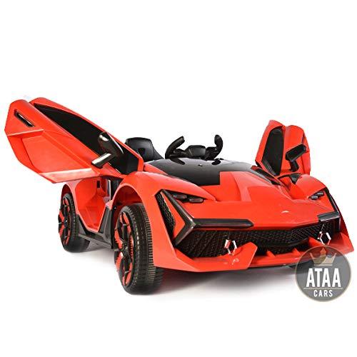 ATAA F1 Racing avec télécommande - Rouge - Spectaculaire Voiture électrique pour Enfants Super Sport Aventador de Grande Dimension avec télécommande et Batterie 12v