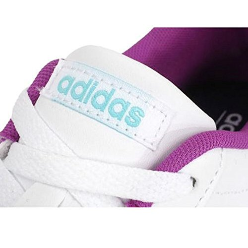 Adidas neo - Daily team k blc violet - Chaussures mode ville Blanc - Violet