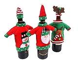 Style Slice Weihnachtspulli Weihnachtsmütze Für Weinflaschen - Tischdeko Party - Geschenkverpackung Weihnachtsdeko Dekoration Flaschentasche Beutel Bonbon Plätzchen Süßigkeiten (Christmas Tops Hats)