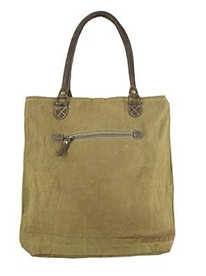 mujer bolsa de mensajero vintage bolsa cruzada de lona militar 43x40x11 cm 1805