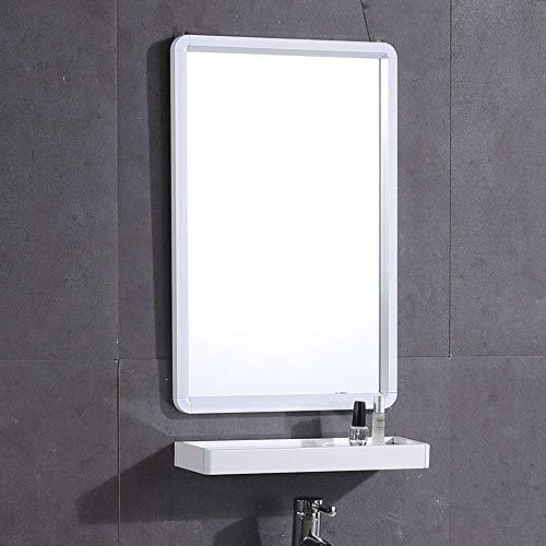 KEWEI - Espejo de baño Rectangular para Montar en la Pared, Espacio de Aluminio, con estantes, Varios...
