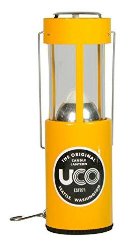 UCO Alu Kerzenlaterne, gelb, 054806