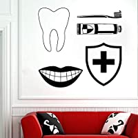 yiyitop Oral care clinic wall decal Decorative decals for the office of dental clinic dental care removable vinyl glass wall sticker 32 * 30cm
