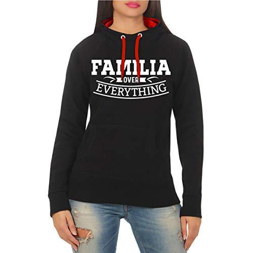 Spaß kostet Frauen und Damen Kapuzenpullover Familia Over Everything (mit Rückendruck) Größe XS - XXL