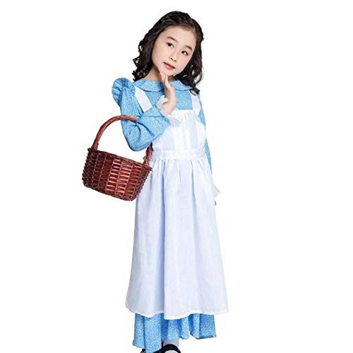 GUAN Halloween Kostüme Mädchen Performance Kostüme Halloween Girls Farm Pastoral Kostüme Stage Drama - Farm Mädchen Kostüm
