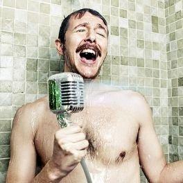 Soffione doccia MICROFONO finto arredo arredamento bagno docce