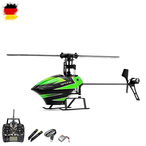 4.5 Kanal RC mini Single-Rotor ferngesteuerter Hubschrauber mit 2.4GHz Technik und mit der neuesten Flybarless 3-axis Gyroscope-Technologie, Ready-to-Fly, Komplett-Set inkl. Crash-Kit