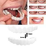 Imixcity Dents Cosmétique Confort Dents Flexibles Prothèses Dentaires Kit Faux Dent Accolades de Simulation