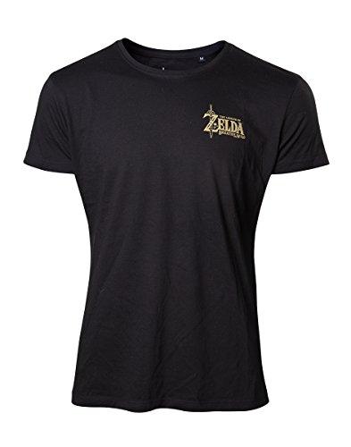 The Legend of Zelda Breath Of The Wild - Golden Game Logo T-Shirt schwarz Schwarz