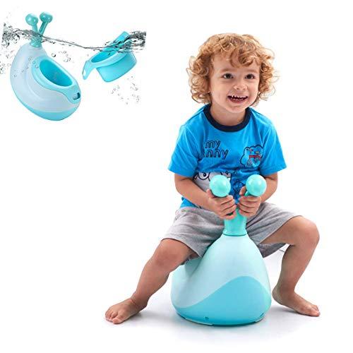 Fascol Vasino per Bambini Vasino Portatile e Lavabile WC per Bambini con Corno di Lumaca di Cartone Animato, Blu (Blu)