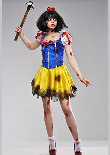 Ladies Dead Zombie Schneewittchen Kostüm Small (UK 8-10) (Erstaunlich Halloween Kostüme Uk)
