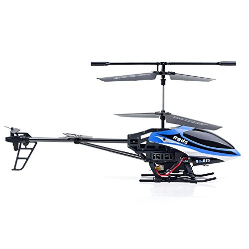 WYXlink YD615 LED-Leuchte Doppel-Propeller Luminous Remote Control Helicopter (Blau)