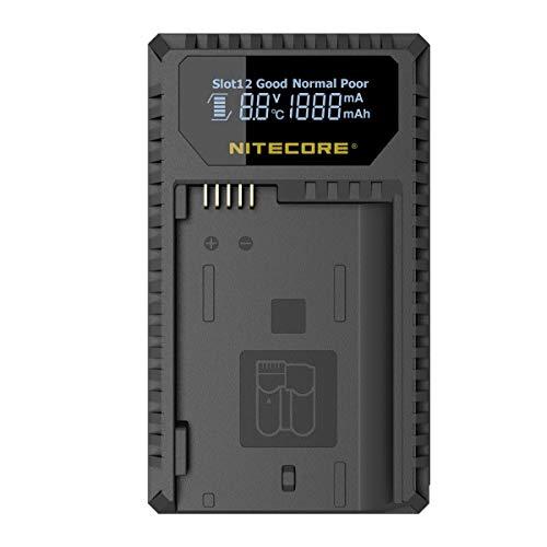 Nitecore UNK1 Dual-Slot-USB-Ladegerät mit LCD-Display für Nikon EN-EL14 / EN-EL14a / EN-EL15 -