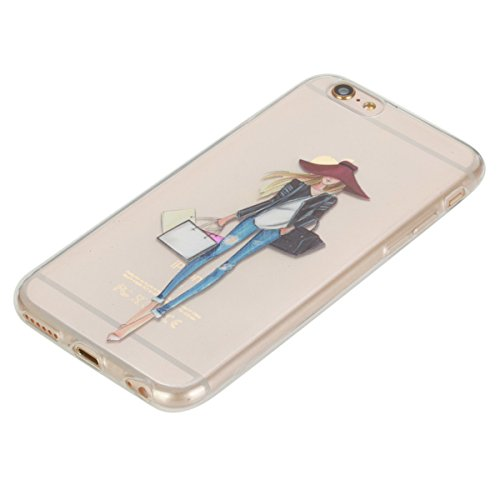 iPhone 6 Hülle, iPhone 6S Hülle, Gift_Source [ Panda ] Hülle Case Transparent Weiche Silikon Schutzhülle Handyhülle Schutzhülle Durchsichtig TPU Crystal Clear Case Backcover Bumper Case für iPhone 6s/ E1-Einkaufen-Mädchen